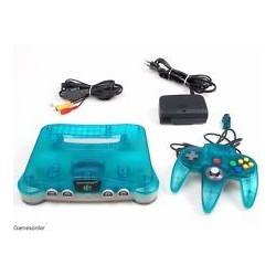 Nintendo 64 Clear Blue