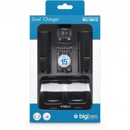 Pack 2 batteries + socle de charge + 1 cable USB