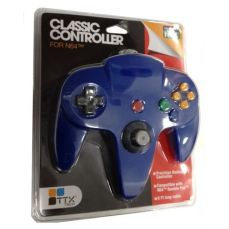 Manette Nintendo 64 TTX TECH bleue