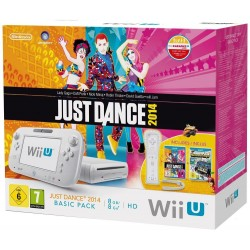 Console Nintendo Wii U 8 Go blanche + Just Dance 2014 + Nintendo Land Edition limitée
