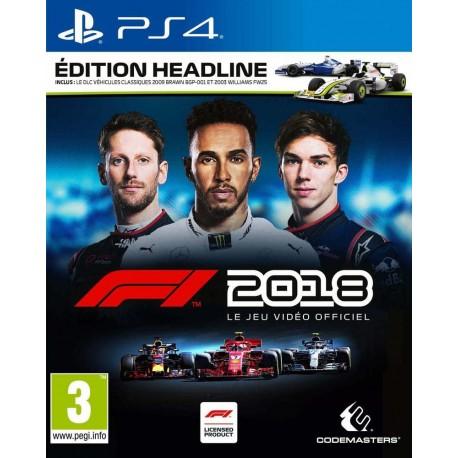 F1 2018 Edition Headline