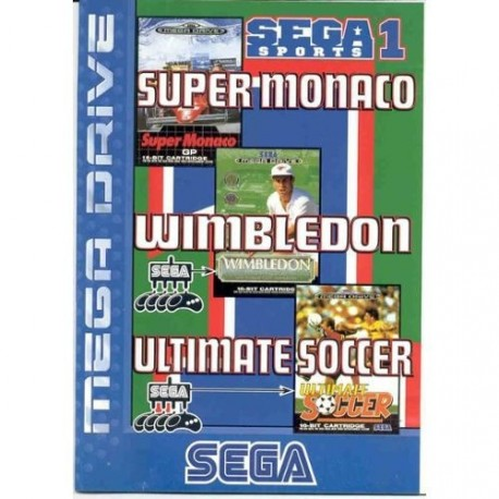 Sega Sports 1 Super Monaco - Wimbledon - Ultimate Soccer